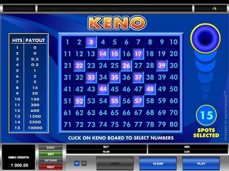 Keno online: Kleiner Überblick